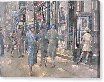 Bond Street Canvas Print by Peter Miller