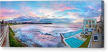 Swimmers Canvas Print - Bondi Beach Icebergs by Az Jackson