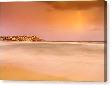 Swimmers Canvas Print - Bondi Phenomenon  by Az Jackson