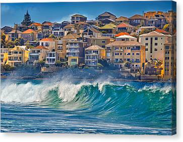 Bondi Waves Canvas Print by Az Jackson