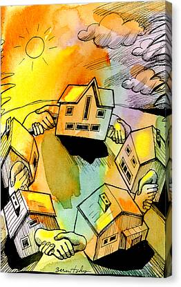Localities Canvas Print - Bonding Communities by Leon Zernitsky