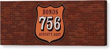 Barry Bonds Canvas Print - Bonds 756 by Karthik Thyagarajan