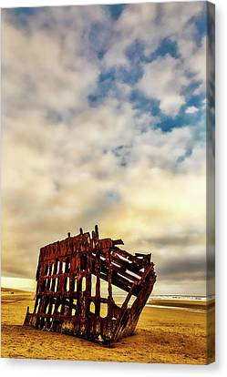 Fort Stevens State Park Canvas Print - Bones Of A Shipwreck by Garry Gay