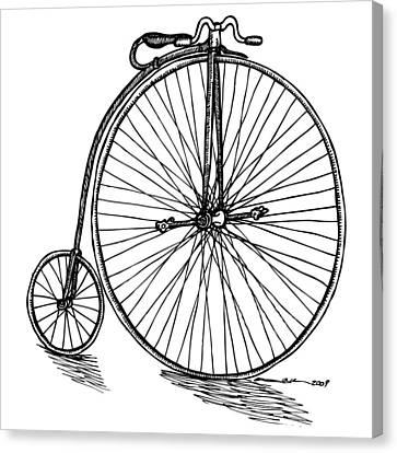Boneshaker Bicycle Canvas Print by Karl Addison