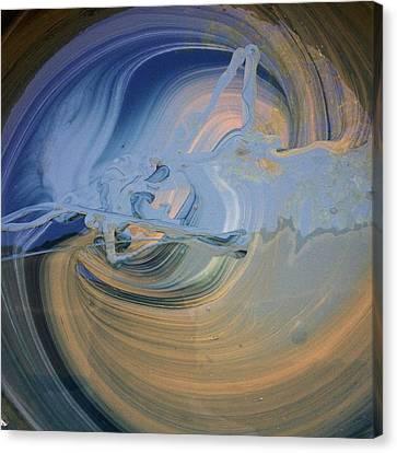 Boney Grandma Flight Canvas Print by Gyula Julian Lovas
