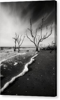 Canvas Print featuring the photograph Boneyard Beach I by Steven Ainsworth