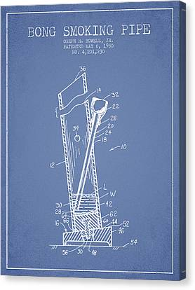 Bong Smoking Pipe Patent1980 - Light Blue Canvas Print