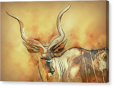 Sudan Red Canvas Print - Bongo by Jack Zulli