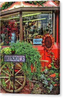Canvas Print featuring the photograph Bonjour Hello Good Day by Thom Zehrfeld