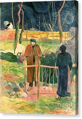 Bonjour Monsieur Gauguin Canvas Print by Paul Gauguin