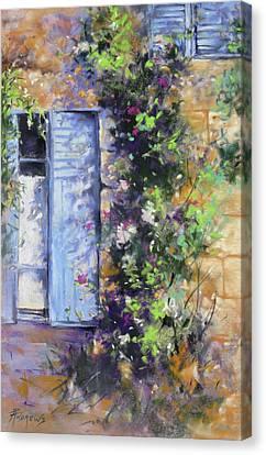 Bonjour Canvas Print by Rae Andrews