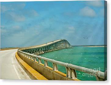 Bonner Bridge - Highway 12 Nc Canvas Print by Anne Kitzman