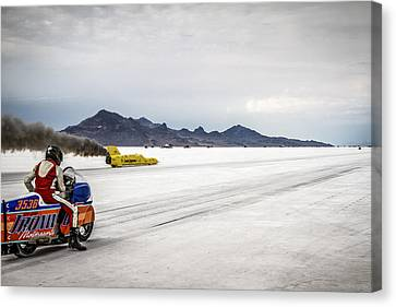 Salt Flats Canvas Print - Bonneville Speed Week 2012 by Holly Martin