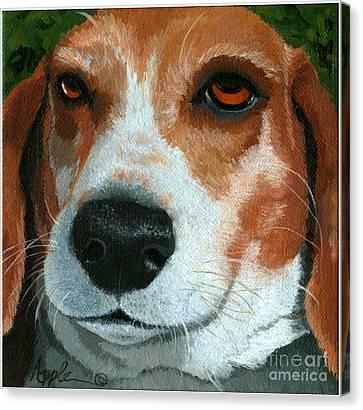 Bonnie - Beagle Painting Canvas Print by Linda Apple