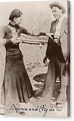 Bank Robber Canvas Print - Bonnie And Clyde II by Mindy Sommers