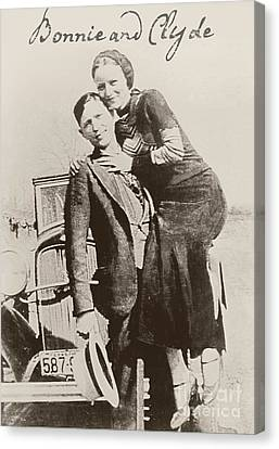Bonnie And Clyde Canvas Print by Mindy Sommers