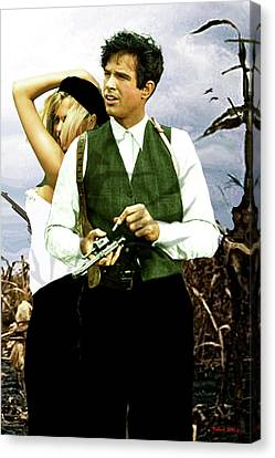 Bonnie And Clyde Canvas Print by Thomas Pollart