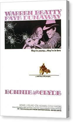 Bonnie And Clyde,  Warren Beatty Canvas Print by Everett