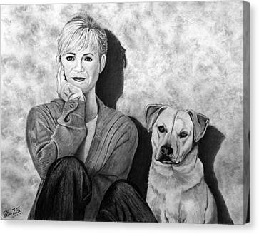 Bonnie Hunt And Charlie Canvas Print by Peter Piatt