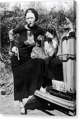 Bonnie Parker  1910 - 1934 Canvas Print by Daniel Hagerman
