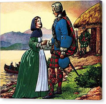 Bonnie Prince Charles And Flora Macdonald Canvas Print by Pat Nicolle