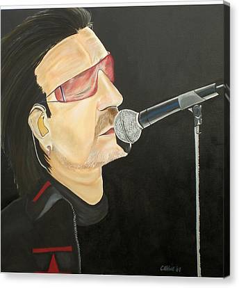 Bono Canvas Print by Colin O neill