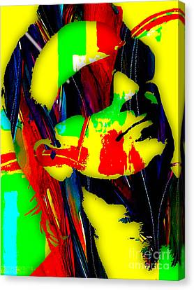 U2 Canvas Print - Bono Collection by Marvin Blaine