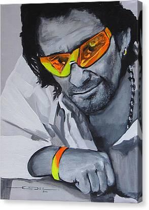Bono  U2 2 U Canvas Print by Eric Dee