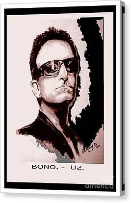 Bono U2 Canvas Print by Liam O Conaire