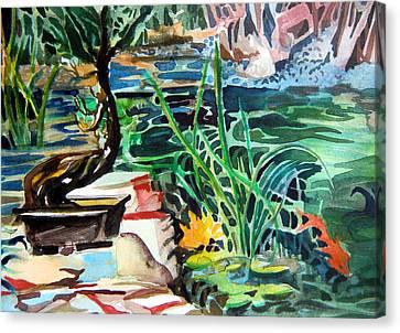 Bonsai Meditations Canvas Print by Mindy Newman