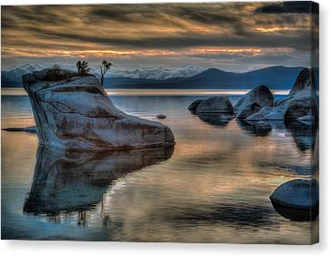 Bonsai Rock At Sunset Canvas Print