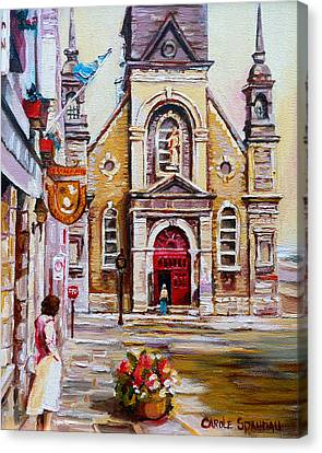 Bonsecours Church Canvas Print by Carole Spandau