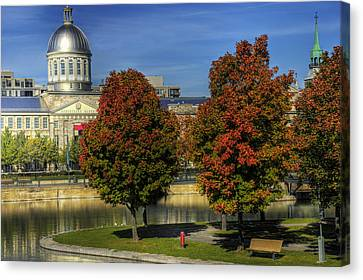 Bonsecours Market Canvas Print by Nicola Nobile