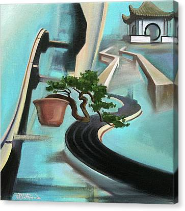 Canvas Print featuring the painting Bonzai Freeways 1 by Dave Platford