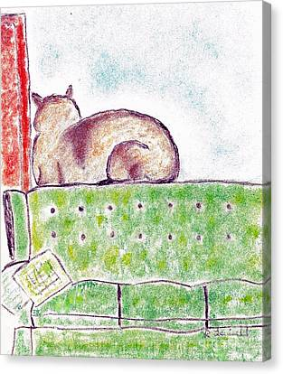 Boo Bear's Solitude Canvas Print by Robyn Louisell