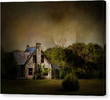 Haunted House Canvas Print - Boo by David and Carol Kelly