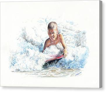 Boogie Boarding Canvas Print