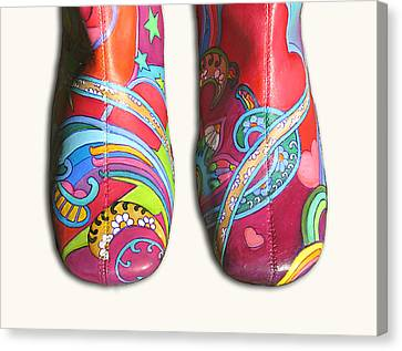 Boogie Shoes Canvas Print by Mary Johnson