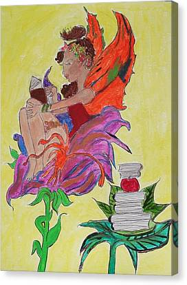 Book Fairy Canvas Print