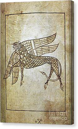 Aodng Canvas Print - Book Of Durrow, C680 A.d by Granger