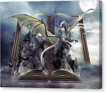 Book Of Fantasies Canvas Print by G Berry