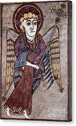 Gospel Of Matthew Canvas Print - Book Of Kells: St. Matthew by Granger