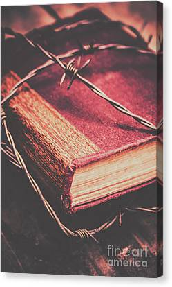Barbed Wire Canvas Print - Book Of Secrets, High Security by Jorgo Photography - Wall Art Gallery