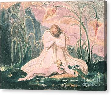 Book Of Thel Canvas Print by William Blake
