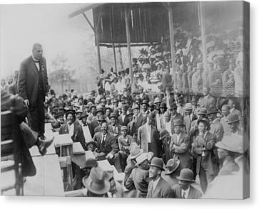 Booker T. Washington Addressing Canvas Print by Everett