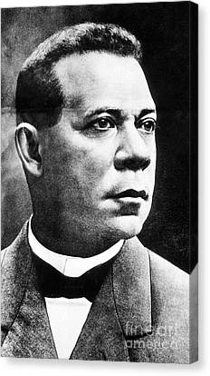 Booker T. Washington, African-american Canvas Print by Photo Researchers