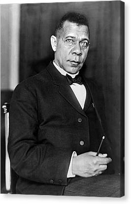 Booker Taliaferro Washington Canvas Print by Waldon Fawcett