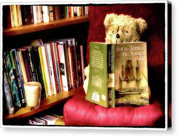 Bookworm Ted Canvas Print