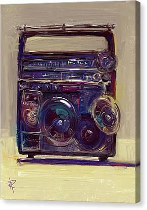 Boom Box Canvas Print by Russell Pierce