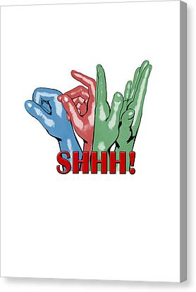 Boom Snap Clap Shhh Canvas Print by Lee Brown